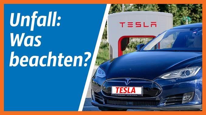 Erstellung Unfallgutachten Tesla